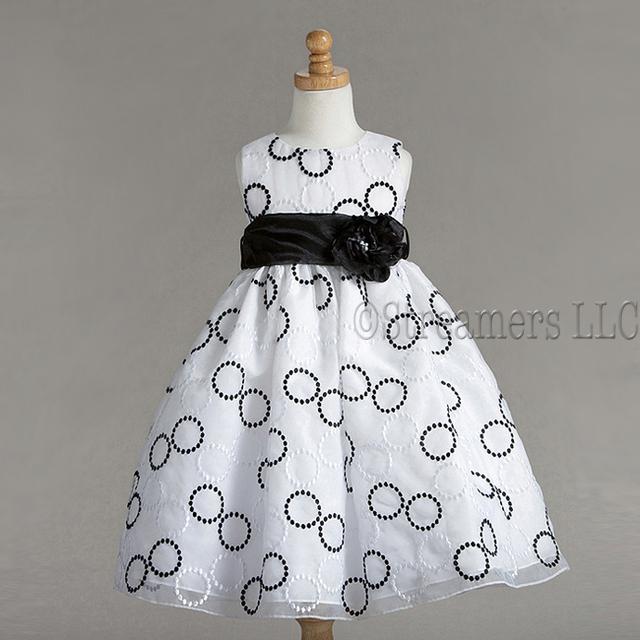 Flower girl dresses black white dress flower girl dress in black white mightylinksfo