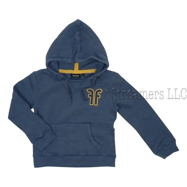 Boys Outerwear by Filia & Filius - Stylish Cotton Hoodie with the Letters FF in Yellow Gold, String Ties, Front Pocket, Ribbed Cuffs and Hem.  Great Quality!  Available in Sizes 3/4 and 5/6 (Larger sizes available see Boys 8+)