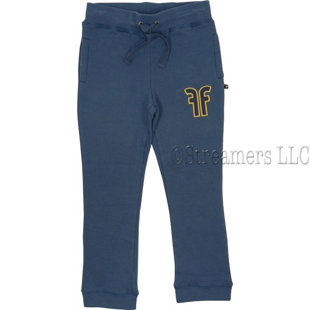 Boys Activewear by Filia & Filius - Stylish Cotton Sweat Pants with the Letters FF in Yellow Gold, String Ties, Side Pockets, Ribbed Cuffs and Waist.  Great Quality!  Available in Sizes 3/4 and 5/6 (Larger sizes available, see Boys 8+)