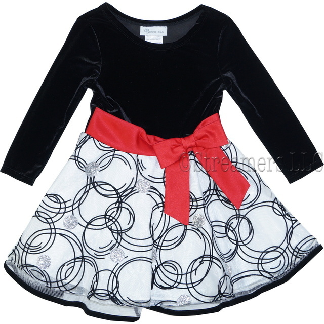 Black and white toddler holiday dresses