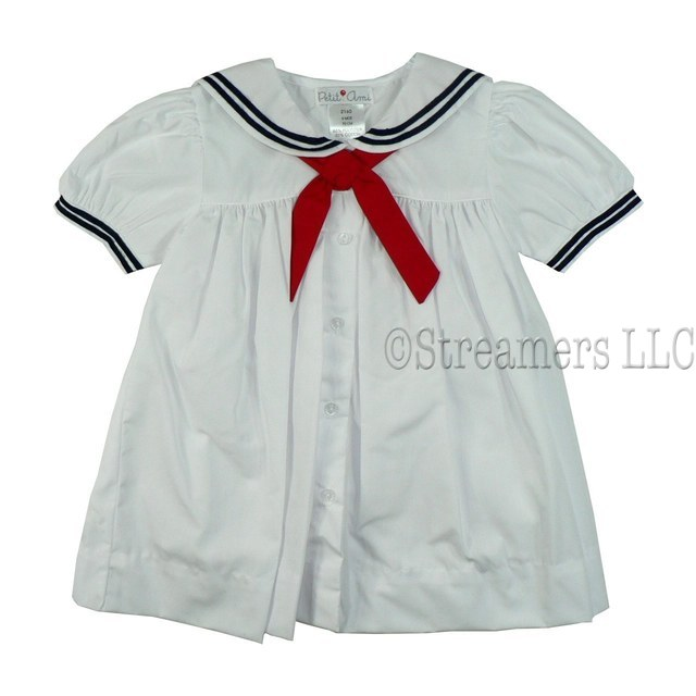 Petit Ami Sailor Dress Infant Girl Dress Sets