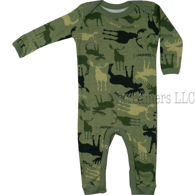 Baby Clothes Clearance Camo Baby Coveralls Long Johns