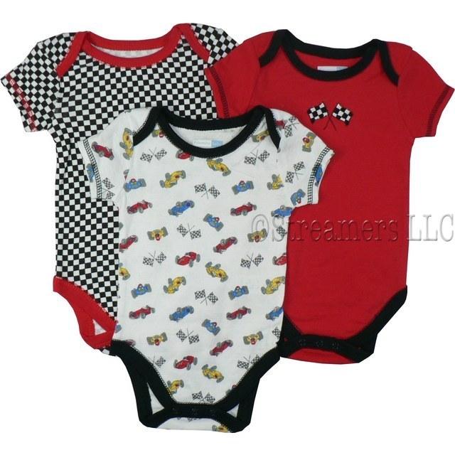 Boy Onesies| Race Car Themed Onesies| Baby Boy Creepers