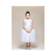 detail photo for Girls Ribbon Stripe Dress for Special Occasions