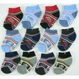 Cute 12 Pack of Newborn Boy Socks in Various Colors and Patterns. Available in Size 0/3 Months...