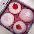 Baby Girl Gift Sets, These four piece baby clothing cupcakes from BabyBlooms are actually cleverly disguised play sets. A delightful presentation box contains two pairs of adorable pink and white candy striped trousers and...
