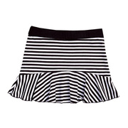 This cute black and white striped skirt has a wide black stretchy waistband and is made of a soft Cotton (97%) that will last through many washes.  Pair with leggings and one of the Limeapple tops!  Available in sizes 4, 5 and 6 (see also sizes 7, 8, 10)