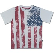 Awesome Vintage Flag Tee by American Vintage that Looks Weathered. Made of 100% Soft Cotton. Great for 4th of July Festivities or any day!  Available in sizes 4, 5, 6 and 7 (see additional sizes in Toddler Boy and Tween Boys 8-12)