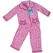 Girls Pajamas by Baby Togs - Adorable Pink Girls Pajamas in fun Dr Seuss Pattern with Fish and Flowers.  Fuschia Ruffle Trim and Flower Pockets.  Flame Resistant.  Super Soft and Oh So Adorable!  Available in Sizes 2T, 3T and 4T