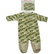 Baby Boy and Girl Costumes by Babyworks - Cute Camouflage Halloween Costume in the form of a Layette with Snaps Down the Front to the