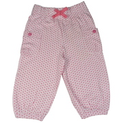 Sweet toddler girl polka dot bloomer capris with elastic waist, pockets and rolled cuffs.  Pair with a top from this New Mix and Match Collection by Cheeky Smyle.  Available in sizes 2, 3, 4 in Aqua and Baby Pink with fabulous cotton from India!