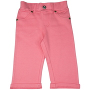 These cute little capris look just like grown up jeans with mock pockets (except coin), belt loops and rivets. Elastic waist band. They are too cute with their turned up cuffs!  Available in Sizes 5, 6, 7 ( Also available in Toddler) in Blue, Pink and Hot Pink and are part of our new Mix and Match Collection by Cheeky Smyle