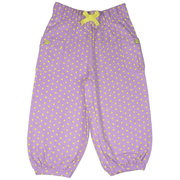 Sweet girls polka dot bloomer capris with elastic waist, pockets and rolled cuffs.  Pair with a top from our New Mix and Match Collection by Cheeky Smyle.  Available in sizes 5, 6, 7 in Lake Blue, Lilac (Viola) and Strawberry