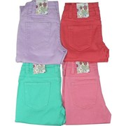 Tween Girl Glitter Jeans that Sparkle in Great Colors of Coral, Lilac, Mint and Pink. These are Stretch, Skinny Jeans Available in Sizes 7, 8, 10, 12, 14 and 16 by Crest Jeans