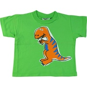 This is an adorable dinosaur screen print t-shirt in vibrant green by Flap Happy.  Made in the USA!  Available in sizes 6, 12, 18 and 24 months