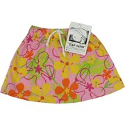 Toddler Girl Skirts - Cute as a bug 100% Cotton Skirts by Flap Happy.  Fun Patterns with Elastic Waist and Mock Tie.  Available in Flowers and Ladybugs.  Available in Size 2T  Made in the USA!