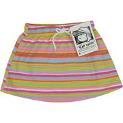 Infant Girl Skirts - Cute as a button 100% Cotton Skirts by Flap Happy.  Fun Patterns with Elastic Waist and Mock Tie.  Available in Stripes, Flip Flops, Flowers and Ladybugs.  Available in Sizes 12, 18, 24.  Mix them up.  Made in the USA!