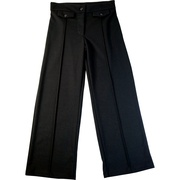 Dress Pants for Tween Girls, Ponte Knit Slacks with Button and Zip Close, Tabbed Front, Seams Down Center of the Legs.  Pull-on Ease.  Great for Holidays and Dressy Occasions! by Bonnie Jean.  Available in Sizes 7, 8, 10, 12, 14 and 16 True to Size.