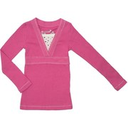Toddler Girl Long Sleeve Tops with Colored Stud Insert, Silver Threading Around Neckline and Front Band.  Very Cute!  Available in Blue, Rose and Cream (Winter White) in Sizes 2T, 3T and 4T.  (NOTE:  Dream Star Tops Tend to Run Small)