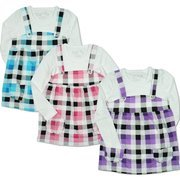 Girls Clothing by Dream Star - Adorable Girls Top in Buffalo Check Jumper Style with Rhinestone Jewel Buttons and Two Pockets.   Looks Great with Leggings!  Available in Blue, Pink and Purple in Sizes 4, 5, 6, and 6X.  NOTE:  Dream Star Items Tend to Run Small - Order Next Size Up  MSRP $19.99