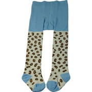 Cute girls tights in fun patterns to complement her outfit! Available in Blue Leopard Print and Red, Hot Pink, Orange Stripe in Size 4/5 and 6/6X by Sweet Potatoes