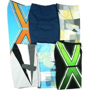 Boys Board Short Swimsuits, Mixed pack in a variety of colors with Tie Fronts and Pocket.  Not Lined. Waist  Sizes 24 (8),  25 (10),  26 (12),  27 (14),  28 (16), and 29 (18)