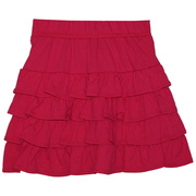 Cute tween girl skirt with layers of ruffles and an elastic waistband.  Great colors of rose and coral. Available in sizes 7, 8, 10 and 12. by Just Max!