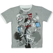 Boys Tees Sizes 4-7 - Dr. Seuss Tee with The Cat in The Hat Screen Print. Double Tee Look.  Available in Sizes 4, 5, 6, and 7.