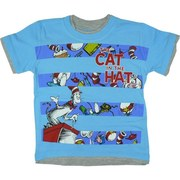 Boys Tees Sizes 4-7 - Colorful Dr. Seuss Tee with The Cat In the Hat Screen Print. Double Tee Look.  Available in Sizes 4, 5, 6 and 7