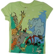 Girls Tees Sizes 4-6X, Fun Dr. Seuss Tee featuring Horton has a Weathered Look to it!  Available in Sizes 4, 5, 6 and 6X.  See Matching Tee in Toddler Girl