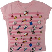Toddler Girl T-Shirts, Cute Dr. Seuss Tee with all Things Cat in the Hat!  Available in Sizes 2T, 3T and 4T. See Matching Tee in Girls 4-6X