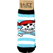 Adorable pirate socks that have skid resistant bottom matches the cute onesie in Infant Boy by Lazy One.  Available in sizes S (6-12 mos) and M (12-24 mos)