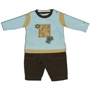 Baby Boy Clothes - Adorable Baby Boy Outfit with Cowboy Theme  with Patches of a Bucking Bronco, Sheriff