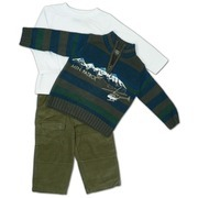Toddler Boy Clothing  - Toddler Boy 3 pc Sweater Set with Multi-Colored