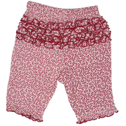 Baby Girl Clothes - Thermal Rhumba Pant with Cranberry Flower Print on Pink.  Soft and Comfy!  Available in Sizes 3, 6, 9, 18 and 24 months. Matching Hoodie in Baby Girl.  Oatmeal & Raisin Brand by Bon Bebe