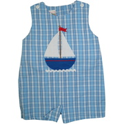 This cute blue plaid shortall is adorable with it