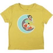 Paul Frank Luxe Infant Tees in Aspen Gold Color with Julius on a Skateboard. Available in Sizes 12, 18, and 24 Months
