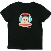 Paul Frank Boys Tees in Black with Headphones. Available in sizes 4, 5/6, 7 and 7X (8)