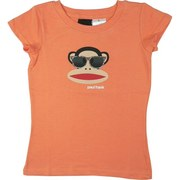 Paul Frank Girls Tees Sizes 4-6X in Orange with Julius Sporting Some Glittered Sunglasses. Adorable! Available in Sizes 4, 5, 6 and 6X