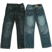 Boys Jeans Toddler Boy Jeans with Adjustable Waist, Stylized Pockets and Cool Crinkle Look.  Available in Sizes 2T, 3T and 4T.  Other sizes available in Boys 4-7 and 8-16.  by Rebel Jeans