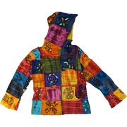 These beautiful hooded jackets/hoodies are hand crafted to bring you an individual, one of a kind garment that is exquisitely made. NOTE: the colors may vary to shown but the pattern will be the same. It is available in sizes 6, 8, 10 and 12 (also in 2 and 4 in Toddler Girl) by Rising International