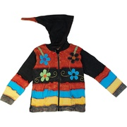 These beautiful hooded jackets/hoodies are hand crafted to bring you an individual, one of a kind garment that is exquisitely made. NOTE:the colors may vary to shown but the pattern will be the same. It is available in sizes 6, 8, 10 ( sizes 2 and 4 are also available on the website) by Rising International