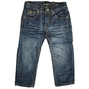 Cute toddler boy 5 pocket denim jeans with decorated pockets.  Available in sizes 2T, 3T, 4T in denim and dark denim washes. by Rebel Jeans