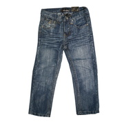Great boys jeans with stylized back pockets. Available in sizes 2T, 3T and 4T. See also in 4-7 and 8-16 by Rebel Jeans