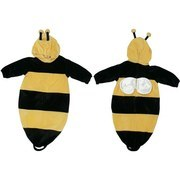 Baby Costumes,  Bumble Bee Pram Baby Costume with Antennae Hood and Wings on back.  Zip closure in back. 100% Soft Polyester.  One Size Fits All/ 0-9 mos./ 6-21 lbs./ to 27 inches. by Babyworks