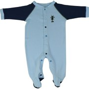 Cute Footed Baby Boy Coverall with Color Coded Snaps to Avoid Mis-Matching and Gaps.  Adorable Ant Applique.  *Not Intended for Sleepwear*  Available in Sizes 0/3, 3/6, 6/9 and 9/12 Months by Snapants