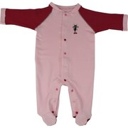 Cute Footed Baby Girl Coverall with Color Coded Snaps to Avoid Mis-Matching and Gaps.  Adorable Ant Applique.  *Not Intended for Sleepwear*  Available in Sizes 0/3, 3/6, 6/9 and 9/12 Months by Snapants