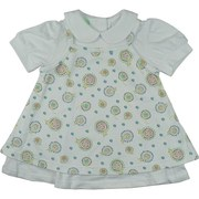 Baby Girl Clothing by SnoPea - Adorable Baby Girl Dress Set in 100% Cotton with White Collared Dress with Floral Print Jumper Overlay in Pastel Colors. Can be Worn Together or Separately!  So Cute!  Available in Sizes 6 and 9 Months. More Sizes Available in Infant Girl