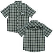 Boys 8-20 Collared Shirts by Silver Star - Boys Plaid Collared Shirt in Blue, Green, Beige and White with Patched Pocket, Snap Closure and Velveteen Screen on Back.  Available in Sizes 8, 10/12, 14/16 and 18/20