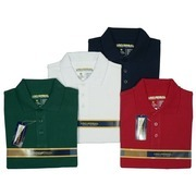Universal School Uniforms for Boys Sizes 4-14, Boys Short Sleeved Polo Shirt with Ribbed Collar and Sleeve Trim, Three-Button Closure, Side Vents.  Available in Hunter Green, Navy, Red and White in Sizes 4, 5, 6, 7, 8, 10, 12 and 14